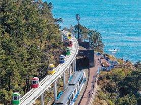 [부산 해운대] 낭만적인 관광열차 블루라인파크 해변열차, 스카이캡슐